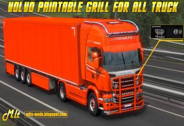 VOLVO Paintable grill for All Truck by MLT v0.1