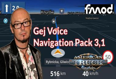 ATS Gej Voice Navigation Pack v3.1
