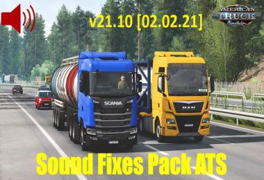 [ATS] Sound Fixes Pack v21.10 1.39.x