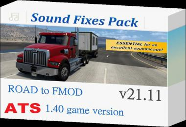 [ATS] Sound Fixes Pack v21.11 1.40.x