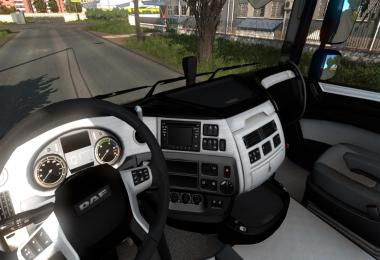 Black and White Interior for DAF XF 1.0