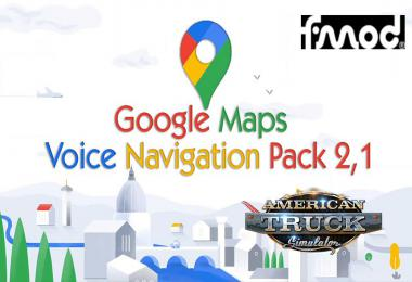 Google Maps  Voice Navigation Pack ATS v2.1