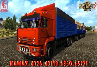 Kamaz - 4326 / 43118 / 6350 / 65221 + trailers 1.40