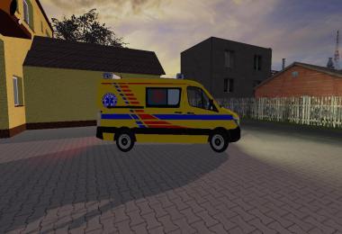 MB Sprinter karetka transportowa T zolta v2.0