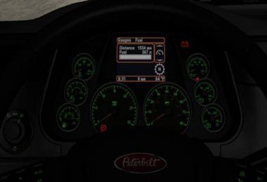 Peterbilt 579 DarkGreen Dashboard 1.39 - 1.40