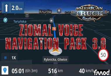 Ziomal Voice Navigation Pack ATS v3.0