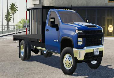 2020 Chevy 3500HD Single Cab Flatbed Truck v1.0