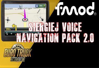 ETS2 Siergiej Voice Navigation Pack v2.0