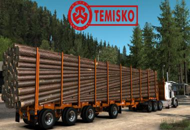 Temisko Quad Axle Log Trailer 1.40